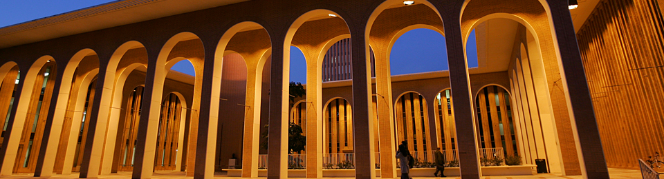 Doheny Library arches